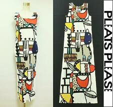 2012SS PLEATS PLEASE ISSEY MIYAKE Long Dress Native American Motifs White Size 5