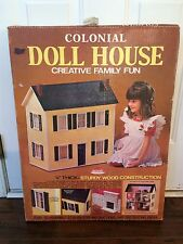 "SKILCRAFT Colonial Doll House KIT 1/4"" wood 3 Story 1""- 1' ORIGINAL BOX"