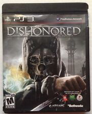 DISHONORED PLAYSTATION 3 PS3 VIDEO GAME, ORIGINAL, MINT DISC, GOOD CLAMSHELL