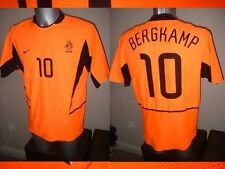 Holland Bergkamp Netherlands Nike Adult L Shirt Jersey Football Soccer Arsenal