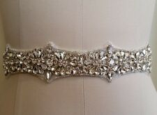 Wedding Sash Belt, Bridal Sash Belt - Crystal Sash Belt = FINAL SALE!!