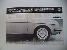 advertising Pubblicità 1979 LANCIA BETA 1300/1600/2000