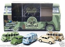 GreenLight Motor World Dioramas Camouflage 5-Car Set Diecast Vehicle, 1:64 Scale
