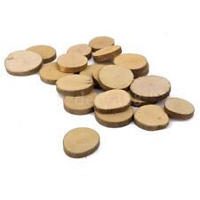 20 Natural Wooden Log Slices Tree Bark Shop Plaque Wedding Craft DIY 3-4cm