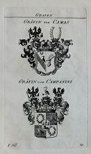 1828 Wappen von Camas Campanini Kupferstich Tyroff