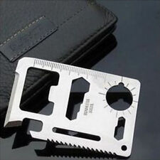 Hot 11in 1 Multi Pocket Tool Hunting Survival Camping Military Credit Card Knife