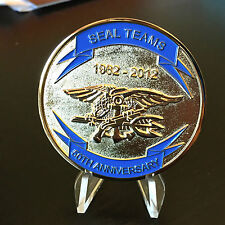 Navy Seal Teams 50th Anniversary 1962-2012 Navy Challenge Coin