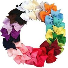 20Pcs Baby Kid Girl Hair Bows Alligator Clip Grosgrain Ribbon Boutique Muticolor