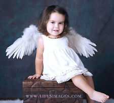 FashionWings (TM) Children's Unisex White Spread Feather Angel Wings Halo