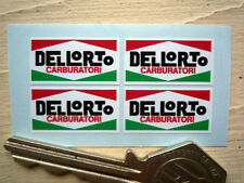 DELLORTO Set of 4 25mm Stickers Ducati Alfa Vespa etc