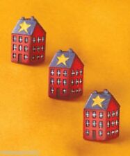3D Country Red House Primitive Home Star Kitchen Drawer Pull Cabinet Knob Decor