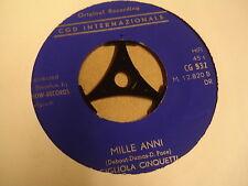 45T SINGLE / GIGLIOLA CINQUETTI - DIO, COME TI AMO / MILLE ANNI