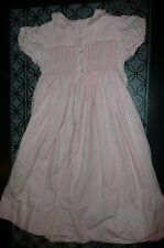 "sz 5 Custom pink dress smocked front back VGUC 31"" long"