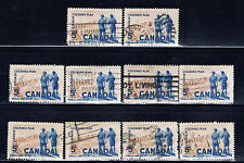 Canada #394(4) 1961 5 cent COLUMBO PLAN POWER PLANT 10 Used