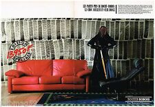 Publicité Advertising 1987 (2 pages) Le Canapé Cuir Roche Bobois