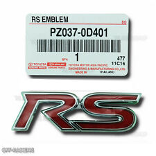 Rs Rear Emblem Oem Decal Logo Style Fit Toyota Vios Yaris Hatchback 2006-2016