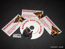 """PROTECTION CD """" BARKING MAD DOG ALARM"""" WARNING CD,authentic voices, With sticker"""