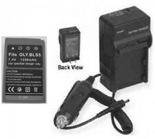 Battery + Charger for Olympus SBLS5 260597 E-PL2 EPL2