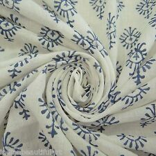 Indian Hand Block Print Cotton Fabric Dressmaking Sewing Craft Material By 1 Yd