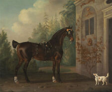 Lord Abergavennys Horse Terrier Gooch Pferde Dark Bay Carriage Tiere B A3 00027