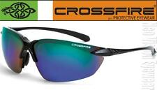 Crossfire Sniper Blue Green Mirror Lens Safety Glasses Shooting Sunglasses Z87+