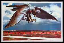 THE ROLLING STONES VINTAGE EAGLE JET 1975 TOUR OF THE AMERICAS POSTER