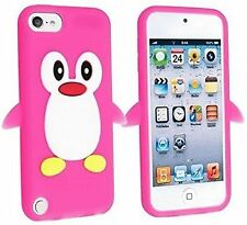 Pink Penguin Silicone Rubber Back Case Cover Skin For iPod Touch 5