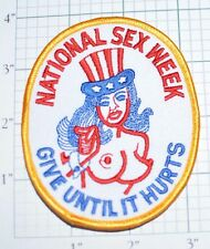 NATIONAL SEX WEEK Funny Iron-On Vintage Embroidered Patch Jeans Jacket Vest Bag