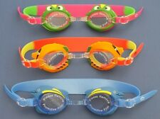"3 Silicone Swimming Goggles for Kids ""Prince Frog"", ""Dolphin"" and ""Fish"" models"