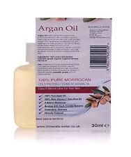 30ml 100% Puro Olio Di Argan Marocchino Organico Corpo Capelli Pelle