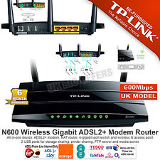 TP-Link TD-W8980 N600 Wireless Dual Band Gigabit ADSL2+ Modem Router 600Mbps