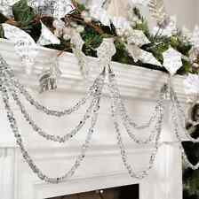 "Silver Gem 3-String Christmas Garland Ornament 19.5"" RAZ Imports 3602366 NEW"