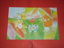 POKEMON-  cartolina/post card  con i personaggi dei pokemon n°4