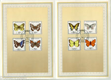 ALLEMAGNE FEDERALE, RFA, 1991, PAPILLONS, 8 timbres 1344/1351 DOCUMENT 1° JOUR