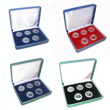 5-1/10 oz silver rounds 19mm Presentation Case Acrylic capsules included