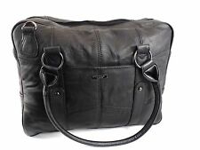 HIGH QUALITY SOFT REAL LEATHER MESSENGER SHOULDER BAG LAPTOP WORK TRAVEL BAG3755