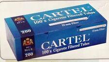 CARTEL 200  Blue - Filter  Cigarette Tubes 100's