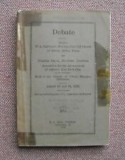 W. L. Oliphant -& Charles Smith Debate 1929 ~ Church of Christ & Athiest