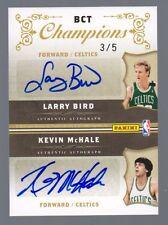 2009-10 National Treasures Celtics Quad Auto Bird McHale Parish Archibald #3/5