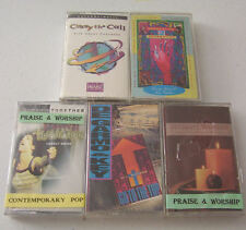 5 worship cassettes: Generation 2 Generation, Carry the Call, DeGarmo & Key-NEW