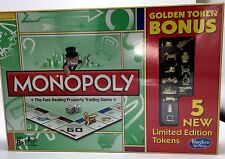 Hasbro MONOPOLY LIMITED EDITION 13 Golden Tokens 5 Bonus New in sealed box