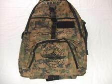 USMC FORCE RECON BACKPACK DAY PACK  BOOK COMPUTER  BAG DIGI CAMO  EMBROIDERED