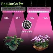 Populargrow Best Dimmable 300W LED Grow Light Full Spectrum for Seeding&Blooming