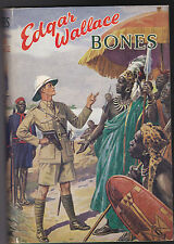 Edgar Wallace - Bones - 1940's - Ward Lock #20 Master Novelists Series in Jacket
