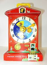 Vintage Fisher-Price Music Box Teaching Clock - c.1962-1968