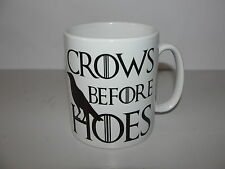 Crows Before Hoes Game of thrones Travel Tea Coffee Mug Geek  GOT Coffee Cup