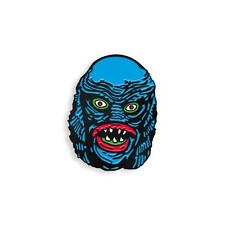 """THE CREATURE MANIAC 1"""" SOFT ENAMEL BLACK METAL PLATED LAPEL PIN BY YESTERDAYS CO"""