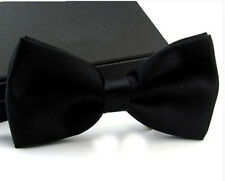 Mens Black Tuxedo Bow Tie Pre Tied Adjustable Business Formal  Neckwear 001