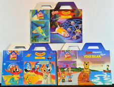 Wendys KID'S MEAL BOX Set of 3 - JETSONS MOVIE MICRO MACHINES YOGI BEAR FRIENDS