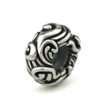 Water-ish Genuine Sterling Silver Solid Charm OHM Bead WHC003